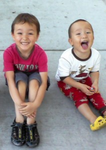 my sons - Kai and Koh